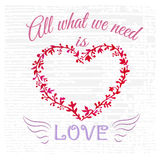 All what you need is love. Royalty Free Stock Images