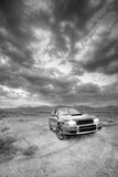All wheel drive car ad BW Royalty Free Stock Images