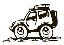 All wheel drive car Royalty Free Stock Photo
