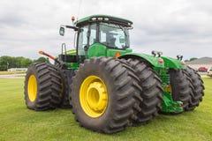 All-Wheel Drive John Deere Farm Tractor. A new modern all wheel drive John Deere farm tractor Royalty Free Stock Photography