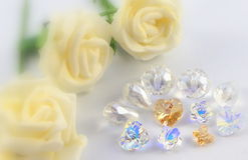 All white bride jewelry Stock Photo