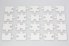 Blank Jigsaw Puzzle Pieces Royalty Free Stock Photography