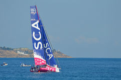 Ladies Female All Woman Yacht Racing Sailing Team Stock Image