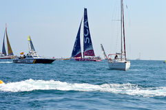 The All Woman Team SCA And The Spanish Police - All Female Sailing Crew Royalty Free Stock Image