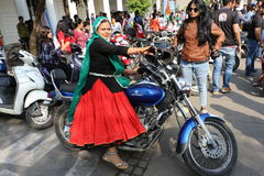 All Women Bike Rally Stock Images