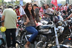 All Women Bike Rally Royalty Free Stock Images