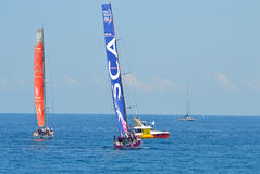 The All Women Team SCA Following Dongfeng Race Team - Sailing Yacht Racing Crews Stock Photography