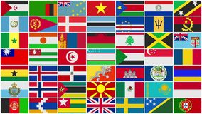 All World Flags Background. All the Countries Flags Background stock video