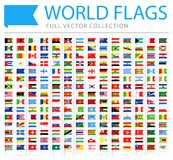 All World Flags - New Additional List of Countries and Territories - Vector Bookmark Flat Icons. All World Flags Set - New Additional List of Countries and royalty free illustration