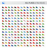 All World Paper Corner Vector Flags - Collection Stock Image