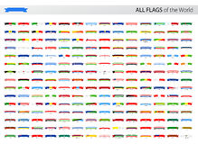 All World Ribbon Vector Flags - Collection Royalty Free Stock Photos