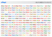 All World Ribbon Vector Flags - Collection Royalty Free Stock Photography