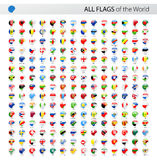 All World Round Corner Vector Flags - Collection Stock Photos
