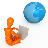 All world in your laptop. Insert a necessary image into the laptop's screen Royalty Free Stock Photo