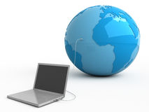 All world in your laptop Royalty Free Stock Photos