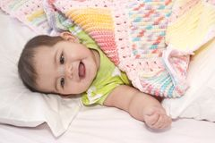 All wrapped in her blanket Royalty Free Stock Photo