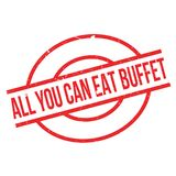 All You Can Eat Buffet rubber stamp Royalty Free Stock Photo