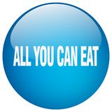 All you can eat button. All you can eat round button isolated on white background. all you can eat royalty free illustration