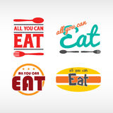 All you can eat. Logos royalty free illustration