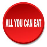 All you can eat button. All you can eat round button isolated on white background. all you can eat stock illustration