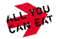 All You Can Eat rubber stamp Royalty Free Stock Photos