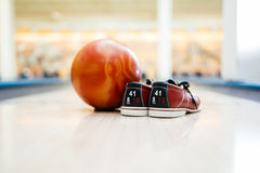 All you need for bowling Stock Photography