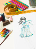 All you need for fashion designing Royalty Free Stock Photos