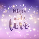 All you need is love background Royalty Free Stock Photography