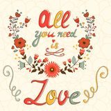 All you need is love concept card Royalty Free Stock Images