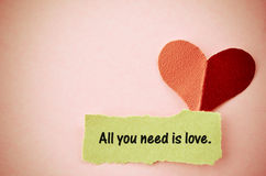 All you need is love concept. Royalty Free Stock Photo