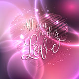 All you need is love design Royalty Free Stock Images