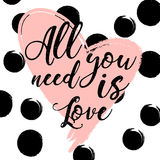 All you need is love. design for holiday greeting card and invitation of the wedding Stock Image