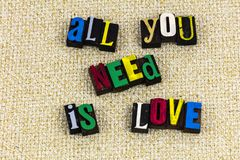 All you need love expression family relationship Royalty Free Stock Images