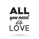 All you need is love Royalty Free Stock Image