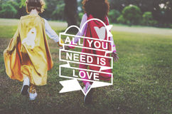 All You Need Is Love Heart Graphic Concept Royalty Free Stock Images