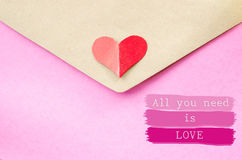 All you need is love. Love letter and wording with text love stock photos