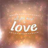 All you need is love Royalty Free Stock Photo