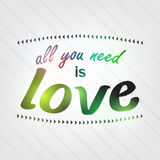 All you need is love. Royalty Free Stock Photo