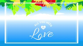 All you need is love motivational quote design
