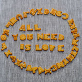 All you need is love phrase Royalty Free Stock Images