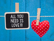All you need is love!!! stock image