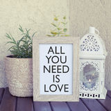 All you need is love saying Stock Images