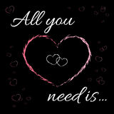All you need is love t-shirt design Stock Photography