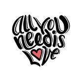 All you need is love vector Stock Image