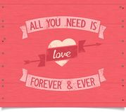 All you need is love vintage american style phrase Stock Images