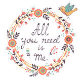 All You need is Me Love concept Royalty Free Stock Photos