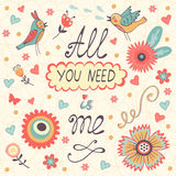 All You need is Me Love concept Royalty Free Stock Photo