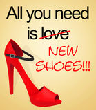 All you need is new shoes Royalty Free Stock Image