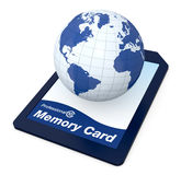 All your data in a memory card Royalty Free Stock Photos