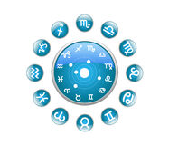 All zodiac blue. On a white background Stock Photo